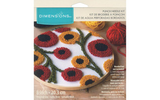 72-70023 DIMENSIONS PUNCH NEEDLE KIT 8 FLORAL PATTERN
