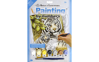 PJS76 ROYAL PAINT BY NUMBER JUNIOR SM WHITE TIGER PAIR