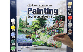 PAL11 ROYAL PAINT BY NUMBER ADULT LG DUCK FEEDING