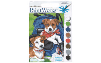 91150 PAINTWORKS PAINT BY NUMBER 9X12 BACK PACK BUDS
