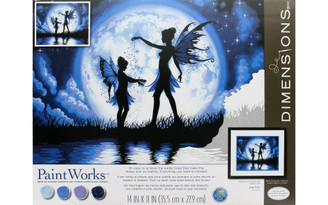 73-91671 PAINTWORKS PAINT BY NUMBER 14X11 TWILIGHT SILHOUET