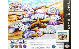 73-91526 PAINTWORKS PAINT BY NUMBER 14X11 SHELLS