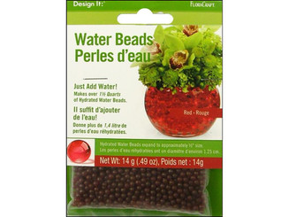 RS9863 6 4 FLORACRAFT WATER BEADS DEHYDRATED RED RS9863/6/4