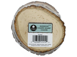 41414 WALNUT HOLLOW BASSWOOD COUNTRY ROUND COASTER 3PC