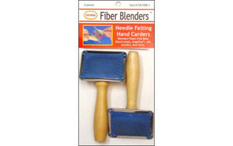 CN-FBB-1 COLONIAL NDL NEEDLE FELTING HAND CARDERS 2PC