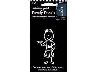 69844 PLAID PEEPS FAMILY DECALS OUTDOOR BOY