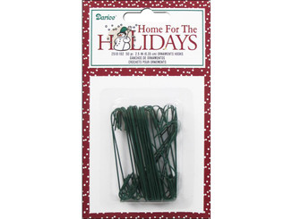 2510-102 DARICE HOLIDAY CHRISTMAS ORNAMENT HOOKS 2 5 GREEN