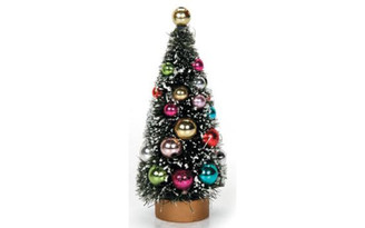 2513-350 DARICE HOLIDAY SISAL CHRISTMAS TREE 4 5 BEADS GRN