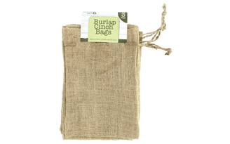 51395 LEISURE ARTS BURLAP CINCH BAGS NATURAL 3PC