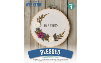 50724 LEISURE ARTS KIT WEEKEND EMBR 6 BLESSED FLORAL