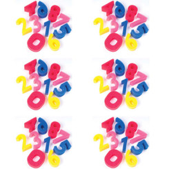 CREATIVITY STREET (6 EA) SPONGE NUMBERS 3IN 10 PER PK 9066-6
