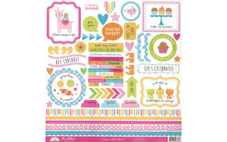 6661 DOODLEBUG HEY CUPCAKE STICKER THIS THAT
