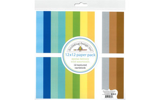 6856 DOODLEBUG SPECIAL DELIVERY PAPER PACK 12X12 SOLID