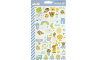 6789 DOODLEBUG SPECIAL DELIVERY STICKER MINI ICONS