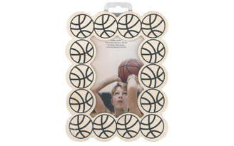 WS268A MULTICRAFT WOOD PHOTO FRAME SPORTS BASKETBALL