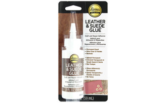 43763 ALEENE S LEATHER SUEDE ADHESIVE CARDED 2OZ
