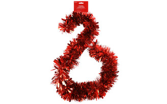 30080333 DARICE GARLAND TINSEL 6 MEGA RED