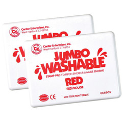 READY 2 LEARN (2 EA) JUMBO STAMP PAD RED WASHABLE