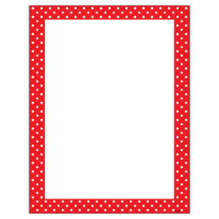 TREND POLKA DOTS RED TERRIFIC PAPERS