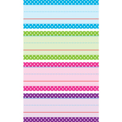 TEACHER CREATED RESOURCES BRIGHT POLKA DOTS WORD STRIPS 20867