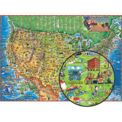 ROUND WORLD PRODUCTS CHILDRENS MAP OF THE USA DM005