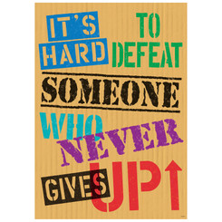 ARGUS ITS HARD TO DEFEAT SOMEONE POSTER 67072