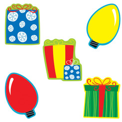 CARSON DELLOSA EDUCATION (6 PK) GIFTS & LIGHTS CUT OUTS 120175BN