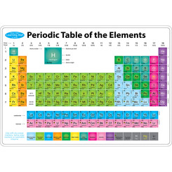 ASHLEY PRODUCTIONS PERIODIC TABLE LEARNI MAT 2 SIDED
