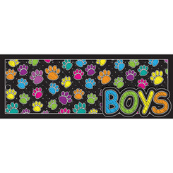 ASHLEY PRODUCTIONS LAMINATED HALL PASS COLORED PAW BOY 10745