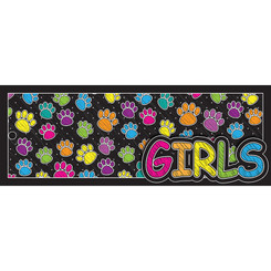 ASHLEY PRODUCTIONS LAMINATED HALL PASS COLORED PAW GRL 10746