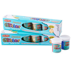 CHARLES LEONARD GLITTER SET 12 PK ASST COLORS .75OZ