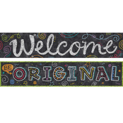 CREATIVE TEACHING PRESS CHALK IT UP 2 SIDED BANNER