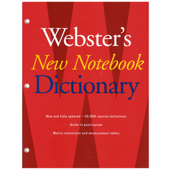 WEBSTER S WEBSTERS NEW NOTEBOOK DICTIONARY 9780547470931