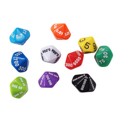 LEARNING ADVANTAGE PLACE VALUE AND DECIMAL DICE 10 SET