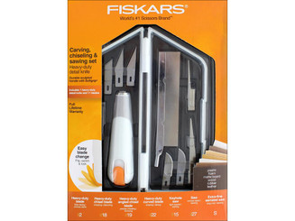 165190-1001 FISKARS CARVING CHISELING SAWING SET HEAVY DUTY