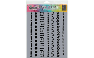 DYS71471 RANGER DYLUSIONS STENCIL LARGE A STITCH IN TIME