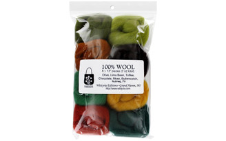 W895R WISTYRIA EDITIONS 100 WOOL ROVING WOODSY 8PC