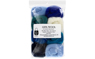 W908R WISTYRIA EDITIONS 100 WOOL ROVING THE SEA 8PC