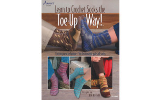 1254771 ANNIE S LEARN TO CROCHET SOCKS THE TOE UP WAY BK
