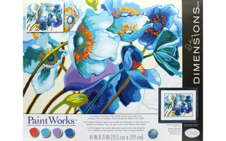73-91657 PAINTWORKS PAINT BY NUMBER 14X11 BLUE POPPIES
