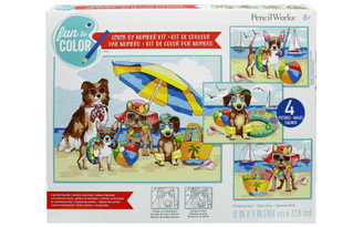 73-91745 PAINTWORKS COLOR BY NUMBER 12X9 SUMMER PAWS 4PC
