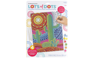 73-91778 DIMENSIONS LOTS OF DOTS DOT PAINTING 9X12 CACTUS