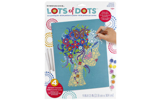 73-91777 DIMENSIONS LOTS OF DOTS DOT PAINTING 9X12 GIRL