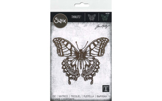665201 SIZZIX THOLTZ THINLITS DIE PERSPECTIVE BUTTERFLY