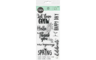 665108 SIZZIX OROSE CLEAR STAMPS NEW BEGINNINGS
