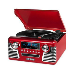 INNOVATIVE TECHNOLOGY INN-V50-200-RED BLUETOOTH STEREO TURNTABLE WITH CD