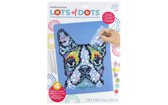 73-91782 DIMENSIONS LOTS OF DOTS DOT PAINTING 9X12 COLORDOG