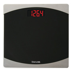 Taylor Precision Products 75624072 12-Inch x 12-Inch 400-lb Capacity Bathroom Scale