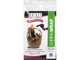 66001 BASKET ACCENTS SHRINK WRAP BAG SMALL CLEAR