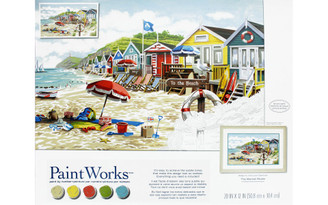 73-91794 PAINTWORKS PAINT BY NUMBER TO THE BEACH